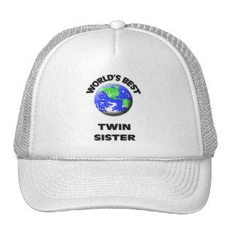 La mejor hermana gemela del mundo gorra