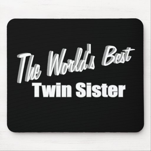 La mejor hermana gemela del mundo tapetes de ratones