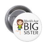 La mejor hermana grande con el botón feliz del pin
