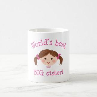 La mejor hermana grande de los mundos - pelo marró taza