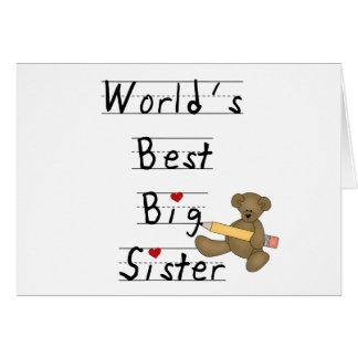 La mejor hermana grande del mundo tarjeta de felicitación