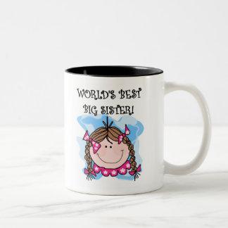 La mejor hermana grande del mundo trigueno taza de café