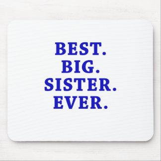 La mejor hermana grande nunca alfombrilla de ratón