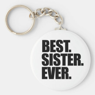 La mejor hermana nunca llavero redondo tipo pin