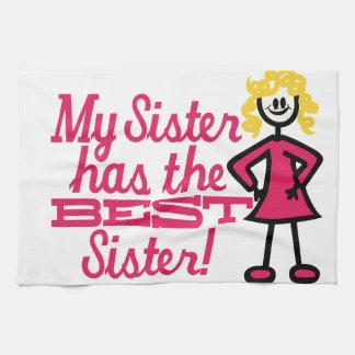 La mejor hermana toallas de mano