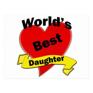 La mejor hija del mundo tarjeta postal