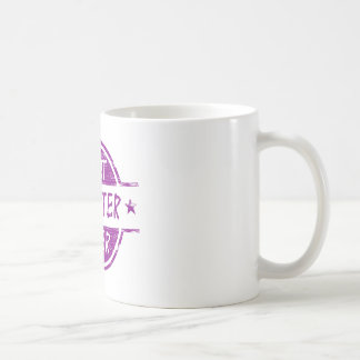 La mejor hija siempre púrpura taza básica blanca