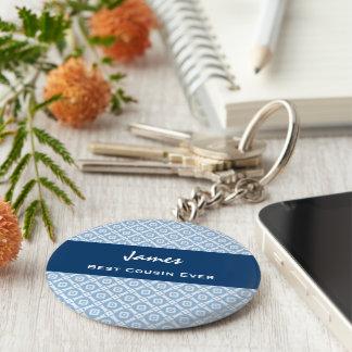 La mejor idea siempre azul del regalo del modelo d llavero redondo tipo pin