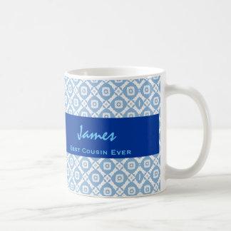 La mejor idea siempre azul del regalo del modelo d taza básica blanca