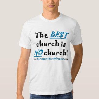 La MEJOR iglesia de azul/del negro en la camiseta Playeras