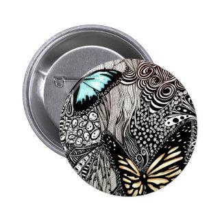 La mejor imagen de la mariposa pin redondo de 2 pulgadas