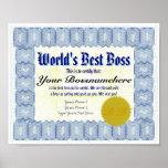 La mejor impresión del certificado de los oss del  impresiones
