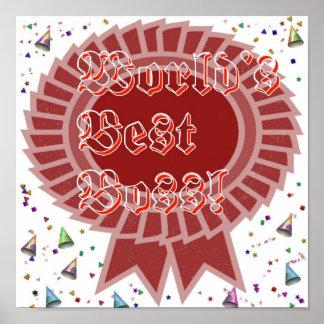 La mejor impresión enmarcada Boss del mundo Póster