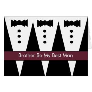La mejor invitación del hombre de BROTHER - Tuxes Felicitación