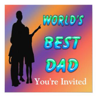 La mejor invitación del papá del mundo invitación 13,3 cm x 13,3cm