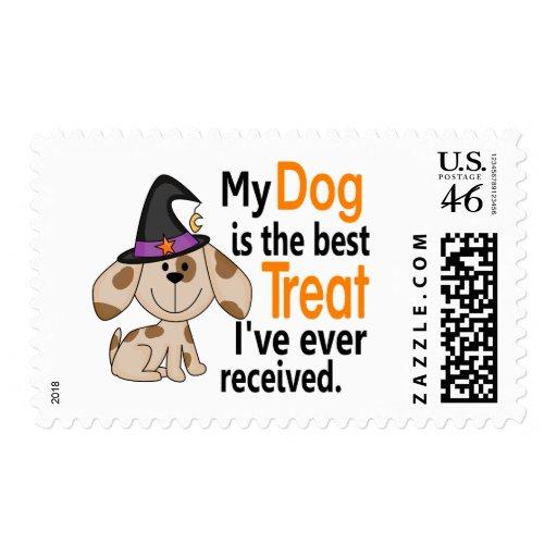 La mejor invitación Halloween del perro Sello