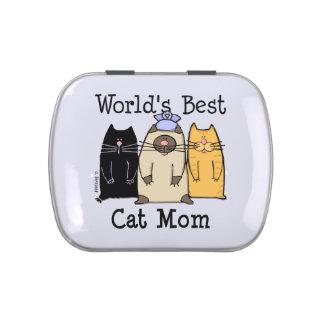 La mejor lata del caramelo de la mamá del gato del latas de caramelos