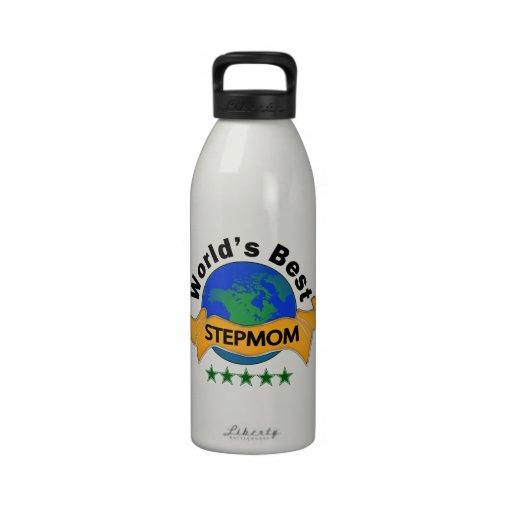 La mejor madrastra del mundo botella de agua reutilizable