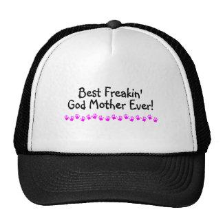 La mejor madre de dios de Freakin nunca Gorras De Camionero
