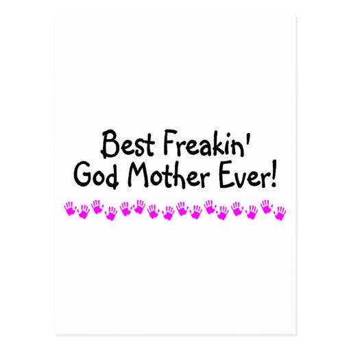 La mejor madre de dios de Freakin nunca Tarjeta Postal