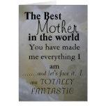 La mejor madre del mundo felicitación