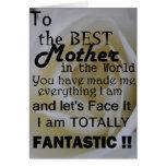 La mejor madre en el mundo felicitaciones
