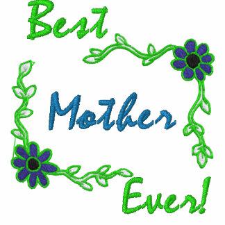 La mejor madre nunca polo bordado de mujer