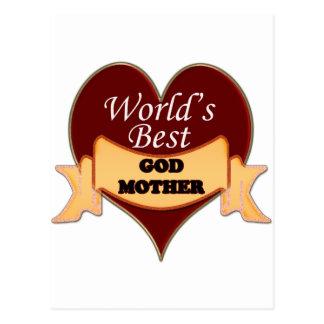 La mejor madrina del mundo tarjetas postales