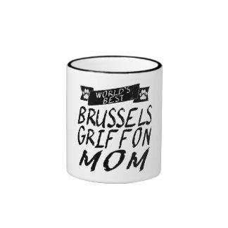 La mejor mamá de Bruselas Griffon del mundo Taza A Dos Colores
