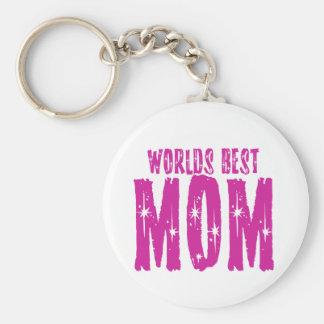 La mejor MAMÁ de los mundos Llavero Personalizado