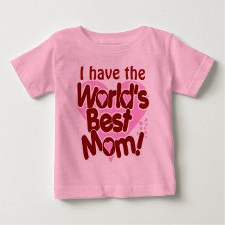 La mejor mamá de los mundos playera de bebé