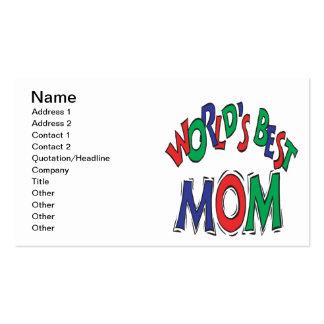 La mejor mamá de los mundos tarjetas de visita