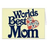 La mejor mamá de los mundos tarjetas