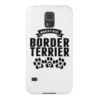 La mejor mamá de Terrier de la frontera del mundo Carcasas Para Galaxy S5