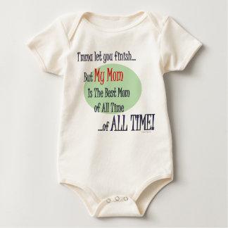La mejor mamá de TODA LA ropa del bebé del TIEMPO Mameluco De Bebé