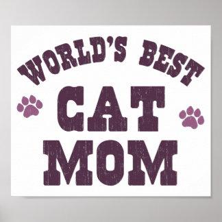 La mejor mamá del gato del mundo posters