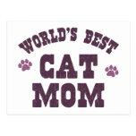 La mejor mamá del gato del mundo postales