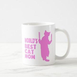 La mejor mamá del gato del mundo (rosa) taza