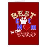La mejor mamá del gato en los regalos del mundo pa tarjetas