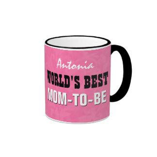 La mejor MAMÁ del mundo A SER V24B5 rosado Taza