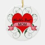 La mejor mamá del mundo adornos de navidad