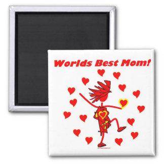 La mejor mamá del mundo - círculo del amor imán para frigorífico