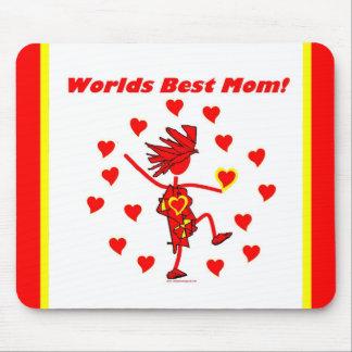 La mejor mamá del mundo - círculo del amor mouse pads