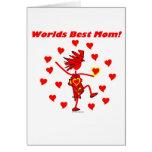 La mejor mamá del mundo - círculo del amor tarjetas