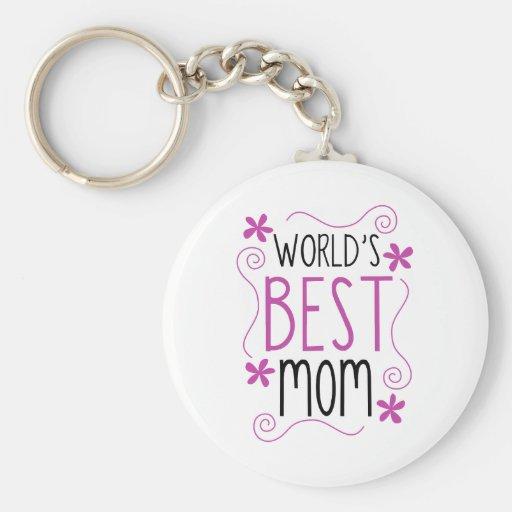 La mejor mamá del mundo florido lindo llaveros
