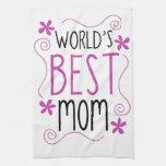 La mejor mamá del mundo florido lindo toallas