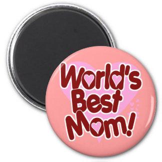 La MEJOR mamá del mundo Imán Redondo 5 Cm