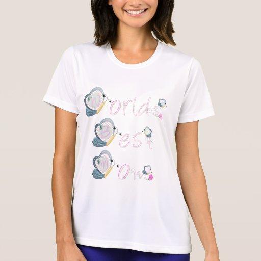 La mejor mamá del mundo (mariposa) camisetas
