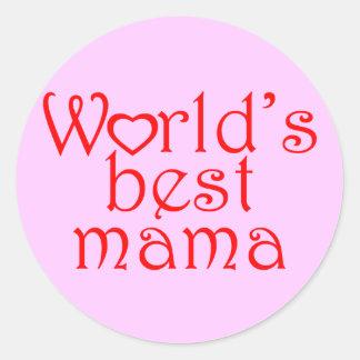 La mejor mamá del mundo pegatina redonda