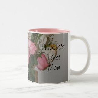 La mejor mamá del mundo taza de café de dos colores